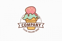 Pastel Ice Cream Logo